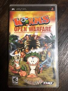 Worms-Open-Warfare-Psp-Sony-Playstation-Psp-Complete-W-box-amp-Manual