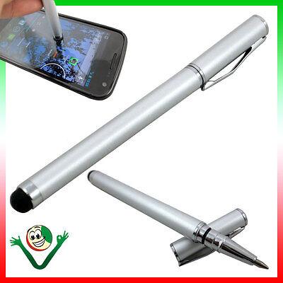 Discreet Pennino Stylus Per Galaxy S6 Edge+ Plus G928f Penna Sfera Integrata Silver S4y