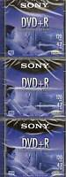 Sony Dvd+r 120 Minute 4.7 Gb Lot Of 3 Factory Sealed