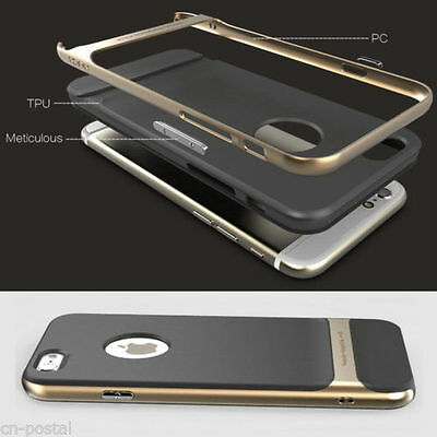 Shockproof Hard Bumper Soft Rubber Case Cover Protector fr iPhone 6 6S Plus 5/5S