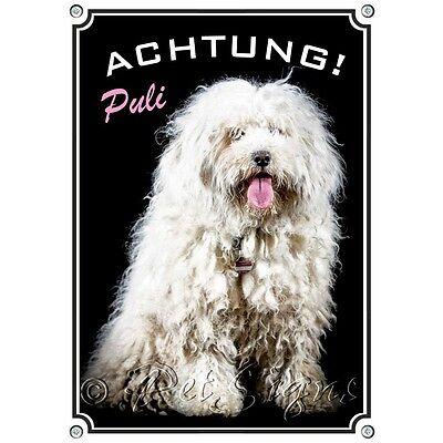 2019 Neuer Stil Hundeschild - Puli - Wetterfestes Metallschild - 1a Qualität Harmonische Farben