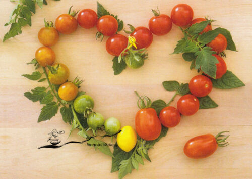 Friedrich Strauss Kunstkarte Herz aus Tomaten