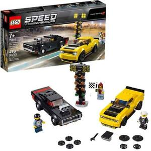 LEGO-Speed-Champions-2018-Dodge-Challenger-SRT-Demon-and-1970-Charger-R-T-75893