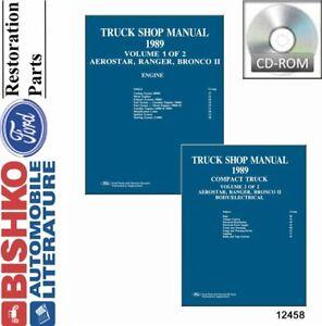 OEM-Repair-Maintenance-Shop-Manual-CD-Ford-Truck-Aerostar-Bronco-II-Ranger-1989