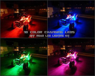 18 Color 5050 SMD RGB Led Brute Force 650 ATV UTV 4 Wheeler 8pc Led Light Kit