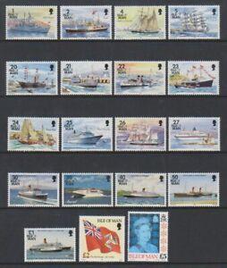 Isle-of-Man-1993-1p-Ships-Complete-set-MNH-SG-539-57