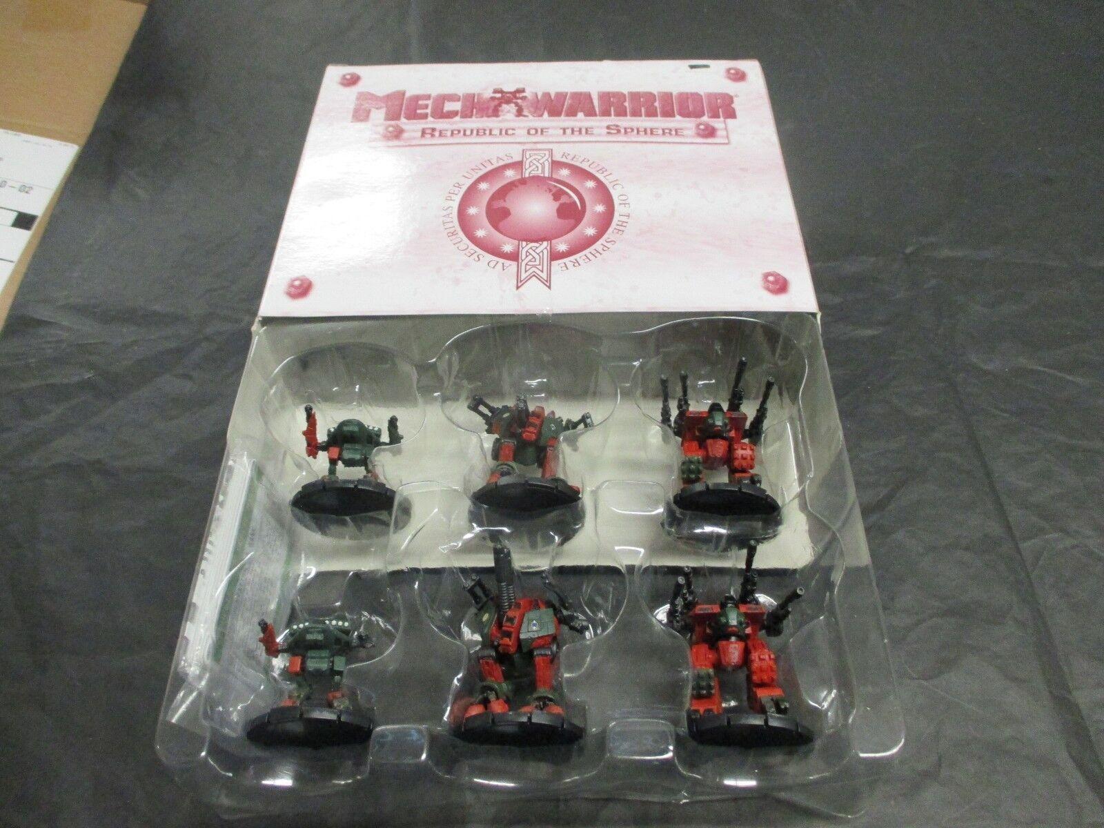 Mechwarrior Republic of the Sphere NIB  OOP  NEW Sealed Battletech 6 Figures