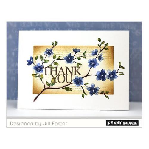 Penny Black Brushstrokes Cling Stamps Blissful Blossoms 40-600