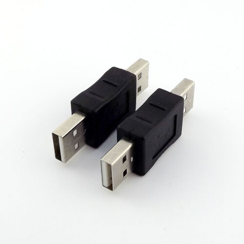 5x USB 2.0 A Male To USB A Male Plug Coupler Adapter Converter Connector Changer