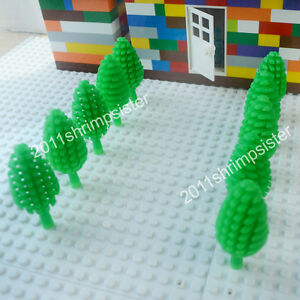 10X Green Tree garden house parts building block toy