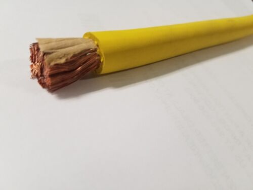 15/' FT 4//0 WELDING BATTERY SOLAR CAR CABLE  SAE J1127 YELLOW MADE IN USA