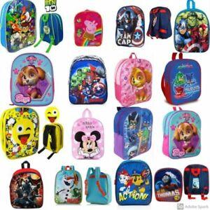 KIDS-CHILDREN-039-S-CHARACTER-BACKPACK-SCHOOL-BAG