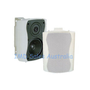 NEW-Outdoor-Marine-Speakers-white-110Watt-2-Way-Quality