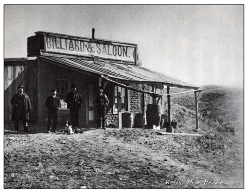 "Black White Old Saloon Billiards Photo NEW MEXICO,1883 14/""x11/"" Southwest"