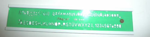 Hellerman 5.0mm Lettering Letter Guide Template Stencil