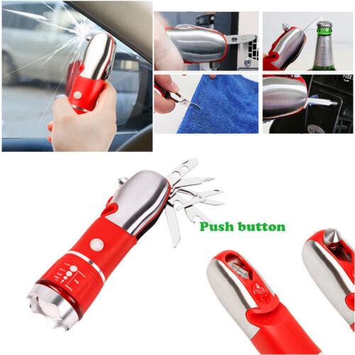 Car Window Breaker Seat Belt Safety Emergency Hammer Cutter Tool with Flashlight