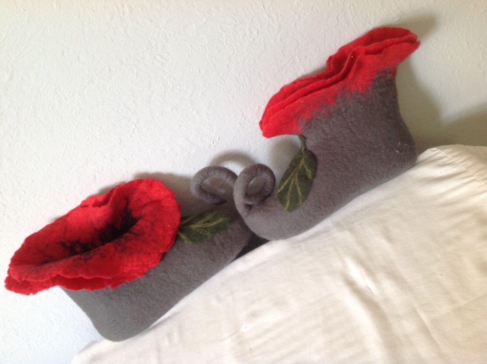7.5 Wool Felting Handmade Genuine Felt Wool 7.5 Slippers Schuhes Flat fef091