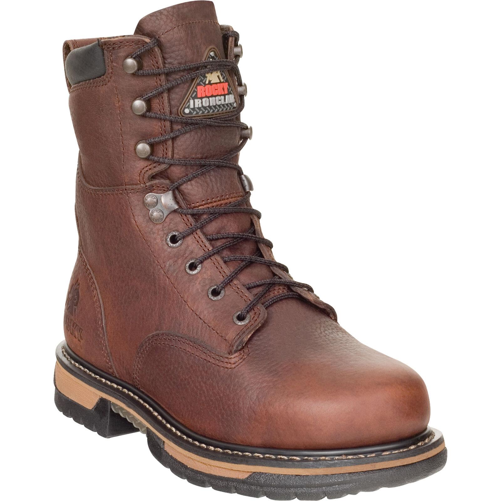 Rocky IronClad 8in. Waterproof Work Boot - Brown, Size 10 1/2 Wide, Model