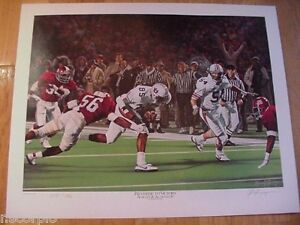 1986 Auburn Tigers Large Reverse To Victory Limited