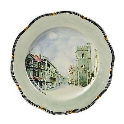 Vintage Hand Painted Spencer Edge St Martins Tower Oxford Souvenir Plate c1900