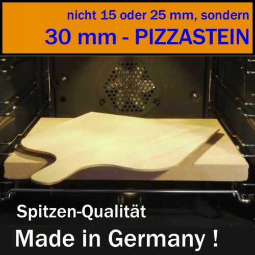 mit PIZZASCHAUFEL PIZZASTEIN // BROTBACKSTEIN 30 mm Stein - SET