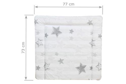 wasserfest f 80 cm Wickelaufsatz Sterne grau Wickelauflage 77 x 73 cm