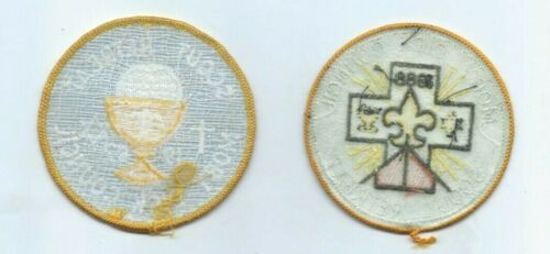 Vintage Lot of 2 Boy Scout Patches Moby Dick Council Scout Retreat 1987 /& 1988