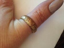 vulcan Gold unisex  Vintage Wedding Ring size S uk 9.5 usa -  gorgeous