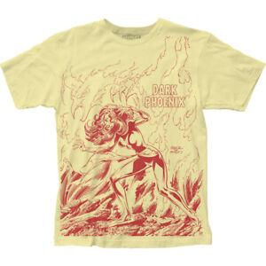 Authentic-Marvel-Comics-X-Men-Dark-Phoenix-Rises-Big-Print-Unisex-Soft-T-shirt