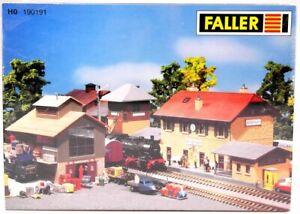 FALLER-190191-Spur-H0-Bahnhof-Set-034-Jungingen-034-3-Gebaeude-Bausatz-OVP-in-Folie