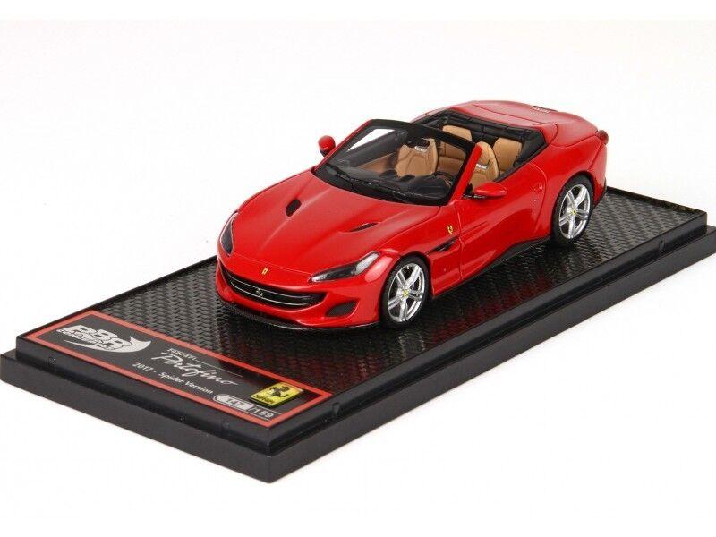 BBR Models 1 43 Ferrari Portofino Spider rojo Corsa 322 Modellino