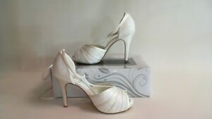804178ee54c Details about G Westerleigh Wedding Bridal Shoes -Scarlet- Ivory - Size 40  UK 7 #18D442