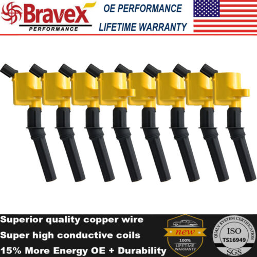 8 Set Ignition Coils Pack For Ford F-150 F250 4.6L 5.4L Lincoln Mercury DG508