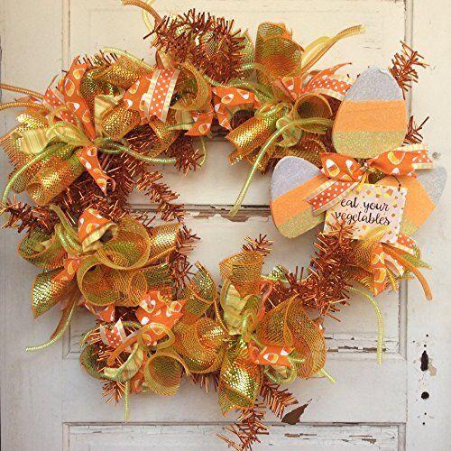 AGD Halloween Decor - Eat Your Vegetables Candy Corn XXL Wreath