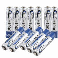 12 piles rechargeables AAA Ni-MH 1000 mAh LR03 envoyées de France lot de 4 piles