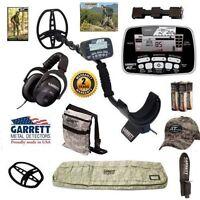 Garrett At Pro Metal Detector With Camo Detector Bag, Camo Hat, And More