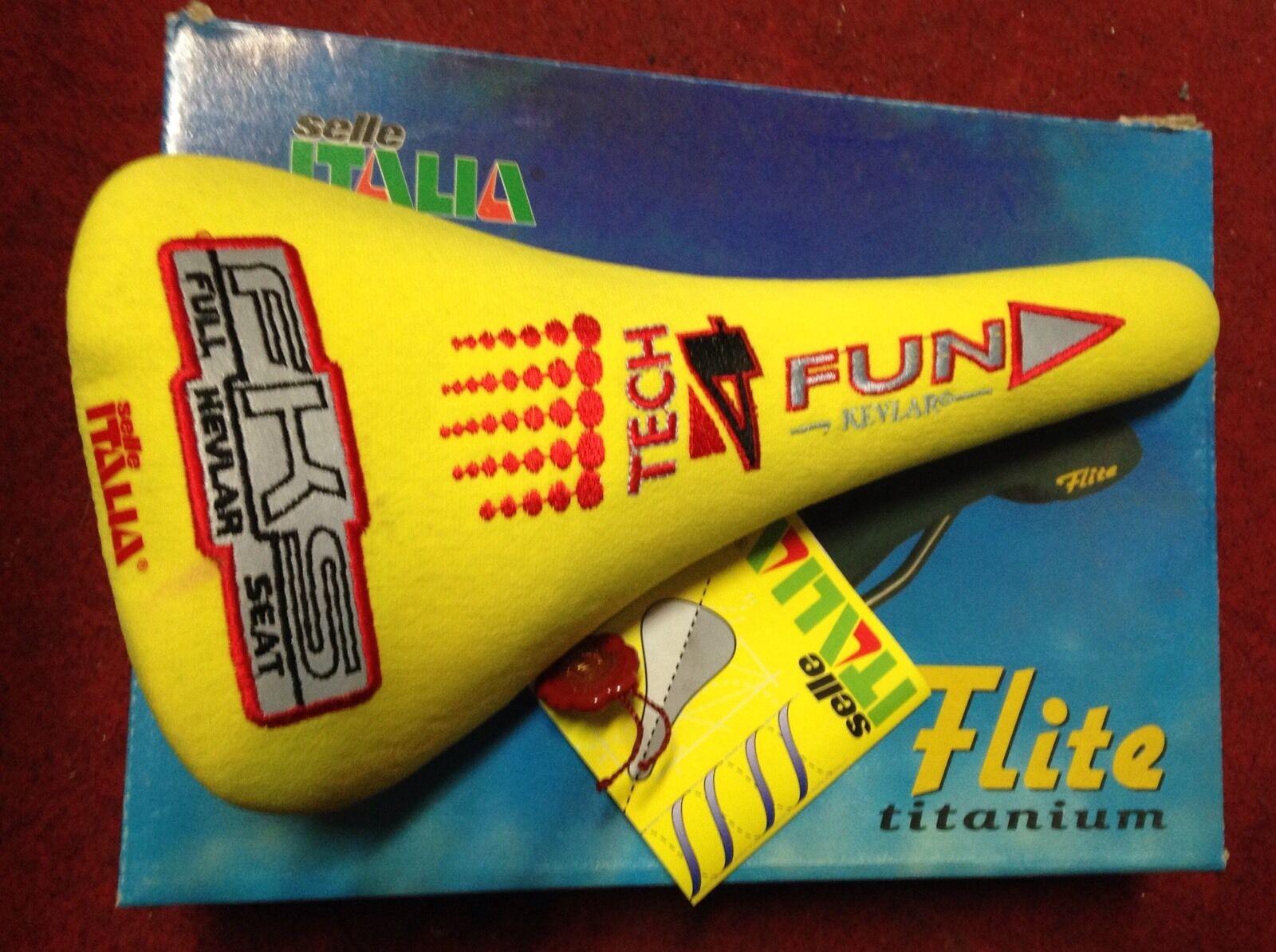 Sattel Fahrrad Selle Italia Flite Titan Fks Saddle Fahrradsattel Kevlar 4fun
