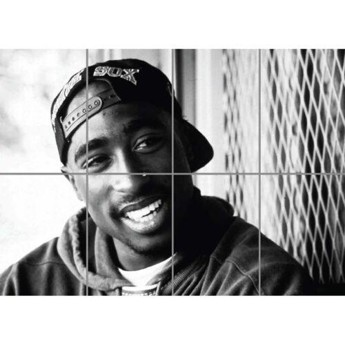 Tupac Shakur Rap 2 Pac Legend Giant Wall Mural Art Poster Print 47x33 Inches