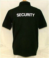 Polo Shirt Security On Front & Large On Back And Both Sleeves S - 5xl