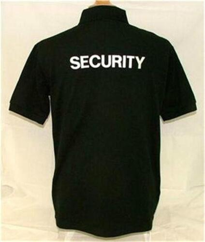 5XL el personal Camisa de Polo seguridad administrador de perro y más en frente y grandes en parte posterior S