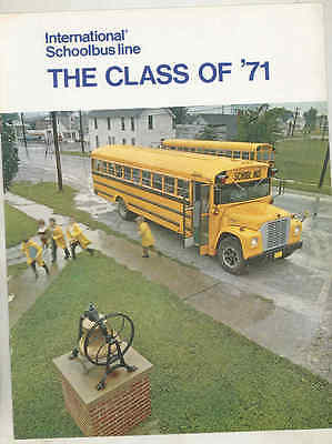 1971 International Pusher Conv. Travelall School Bus Brochure mx7620