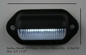 LED-Courtesy-and-Convenience-Light-6-Bright-WHITE-LEDs-Waterproof-12-VDC