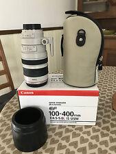 100-400mm F / 4.5-5.6 L CANON EF IS USM obiettivo zoom EOS BOXED MINT