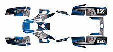 Yamaha Warrior 350 Graphics Decal kit Free Custom Service #3737-Blue