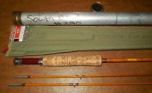 SOUTHBEND-290-SPLIT-BAMBOO-FLY-ROD-7-039-1-2-034-2-PC-ROD-1-EXTRA-TIP-SOCK-amp-TUBE