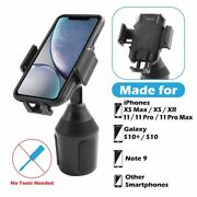 Universal 360° Adjustable Phone Mount Car Cup Holder Stand Cradle For Cell Phone