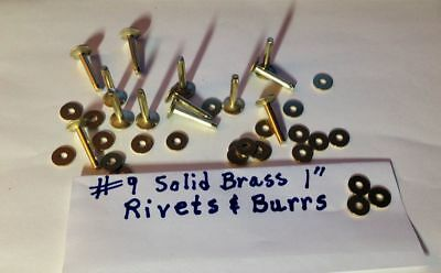"SIZE #9 SOLID COPPER RIVETS /& BURRS/_WASHERS 1//2/"" Long/_/_12 Sets U.S SELLER"