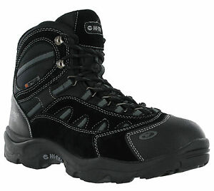 Hi-Tec-bota-de-senderismo-impermeable-Bandera-Invierno-200-para-hombre-de-malla-de-Gamuza-Caminar