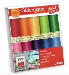 Gutermann 5x Top Stitch Thread 30m Sewing Craft Hobby Art UK /_169 Bulk Filoro