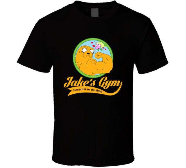 Jake's gym t-shirt adventure time tee jake and finn